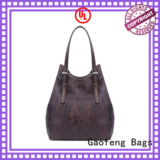GF bags zipper close fashion handbags metal for women