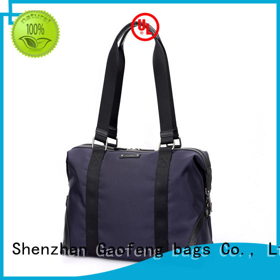 GF bags leather weekend duffle bag mens bulk production for male