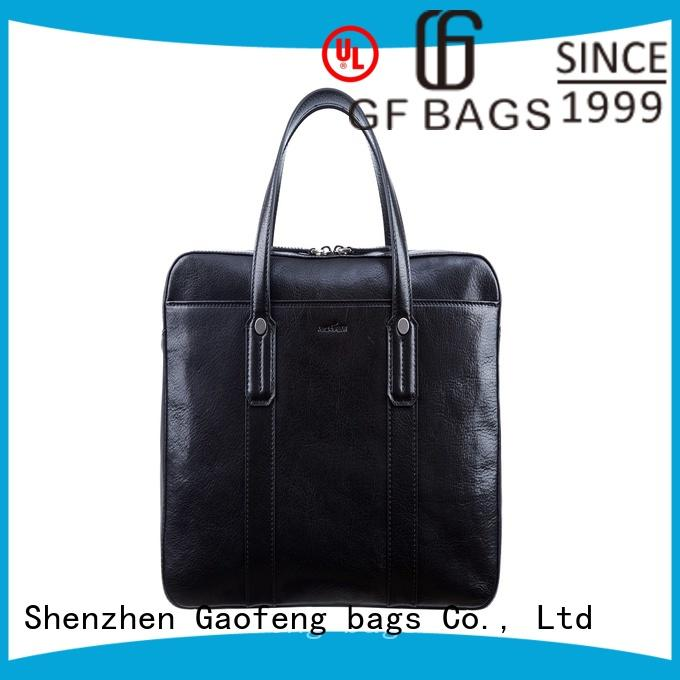 GF bags zipper closure slim briefcase pattern for travel