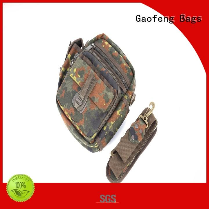 GF bags zipper army military backpack bulk production for ladies