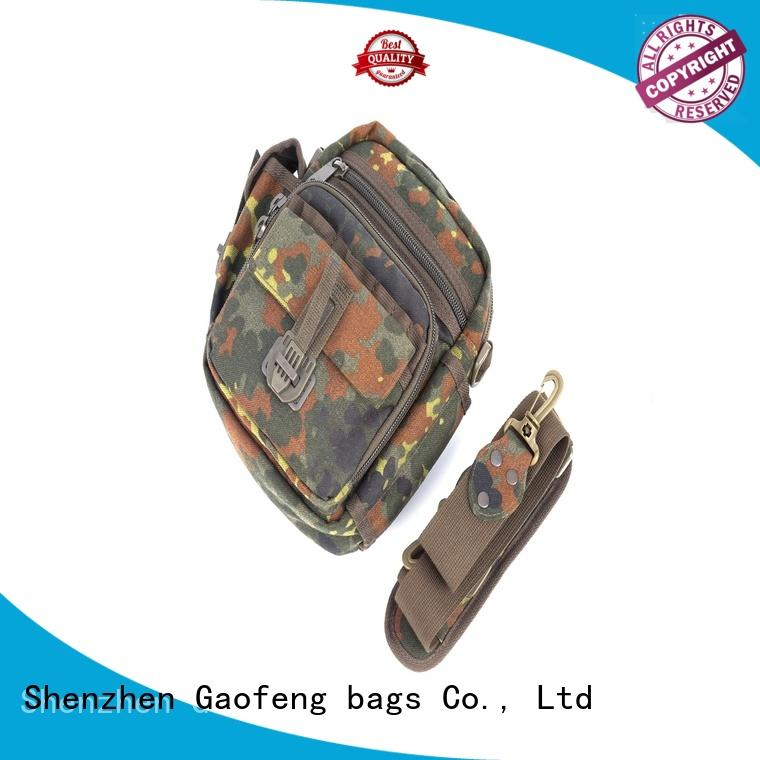 GF bags zipper military style backpack customization for shopping