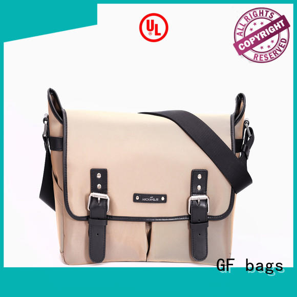 GF bags genuine mens leather laptop messenger bag supplier for lady