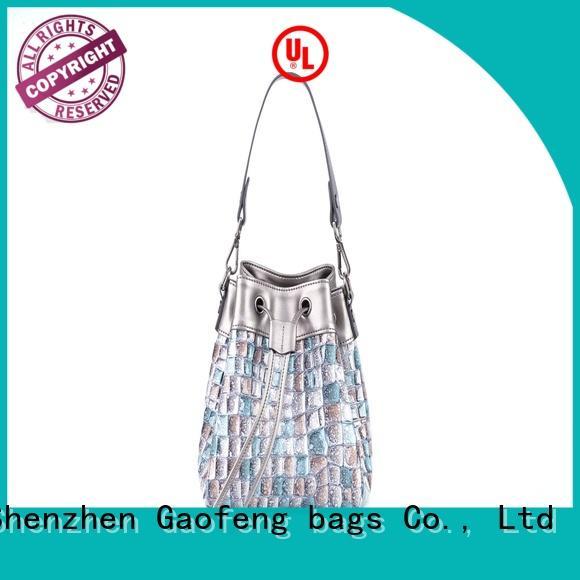 GF bags shape leather shoulder bag women's manufacturer for cosmetics