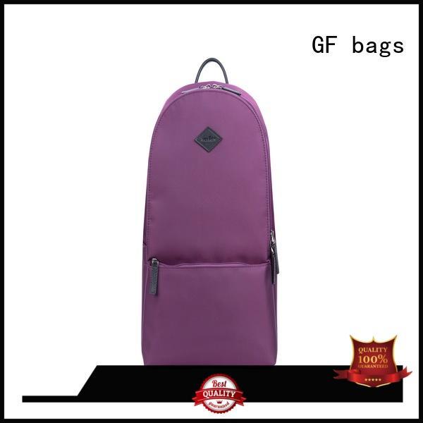 GF bags nylon back backpack zipper for book