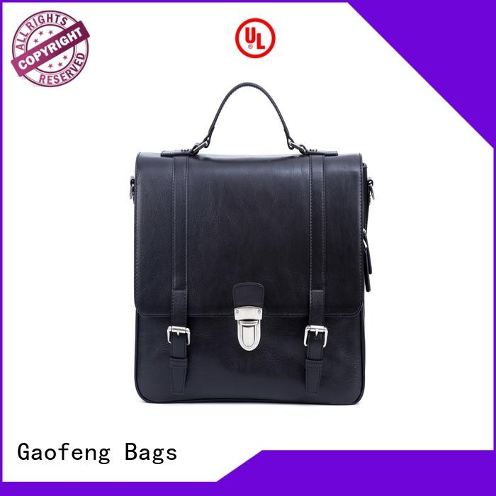 GF bags genuine leather mens leather laptop messenger bag bulk production for lady