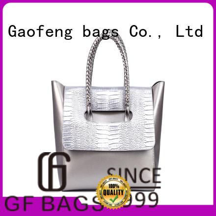GF bags weaving fashion handbags metal for ladies