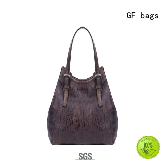 GF bags leather cover ladies bag lock for shopping
