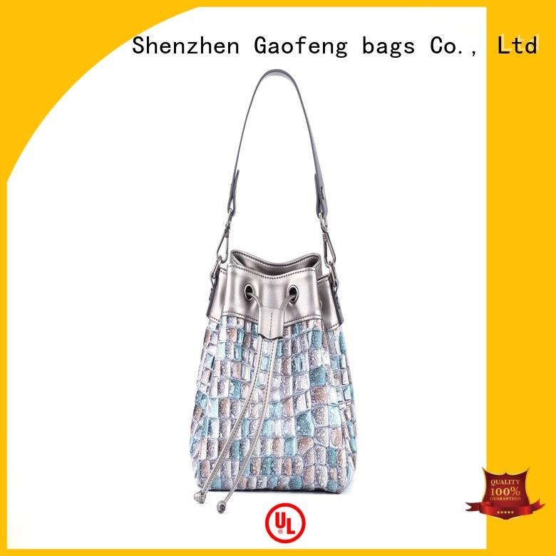 strap ladies shoulder bag supplier for shopping GF bags